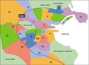Mapa de Dublín